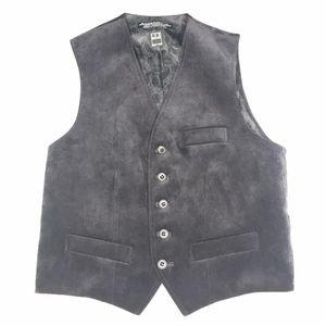 Ike Behar Black Paisley Suit 3-Pocket Vest A160417